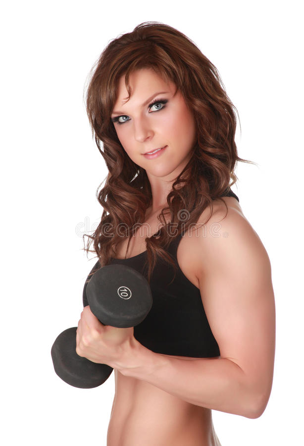 Download Weightlifting girl stock image. Image of weightlifting - 15885261