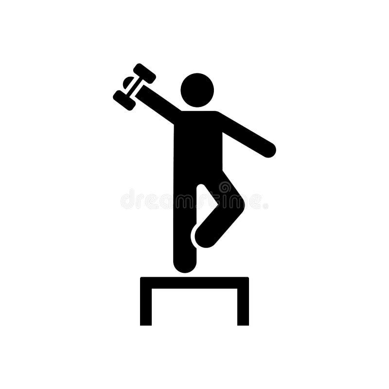 Weightlifting, gym, mięsień, ćwiczenie, ikona Element gym piktogram Premii ilo?ci graficznego projekta ikona podpisz symboli royalty ilustracja