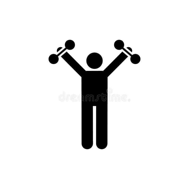 Weightlifting, gym, mięsień, ćwiczenie, ikona Element gym piktogram Premii ilo?ci graficznego projekta ikona podpisz symboli ilustracji