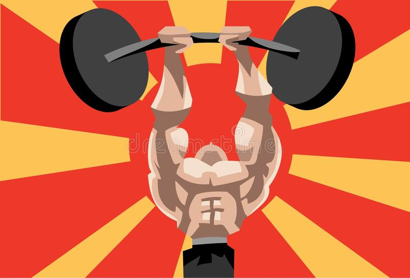 Download Weightlifting Is A Herculean Task Stock Illustration - Image: 12183079