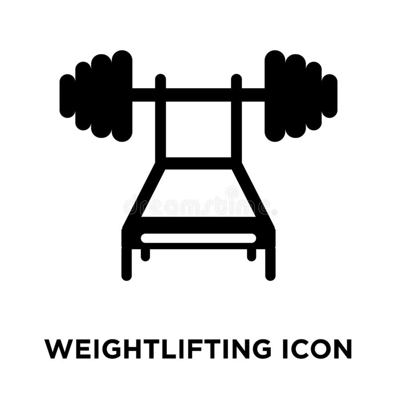 Weightlifting icon vector isolated on white background, logo con stock illustration