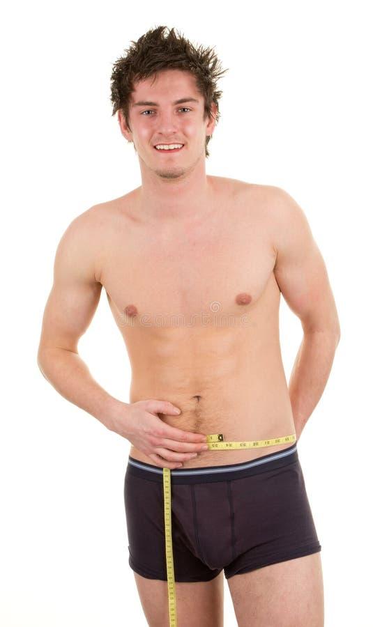 Weightloss man stock image