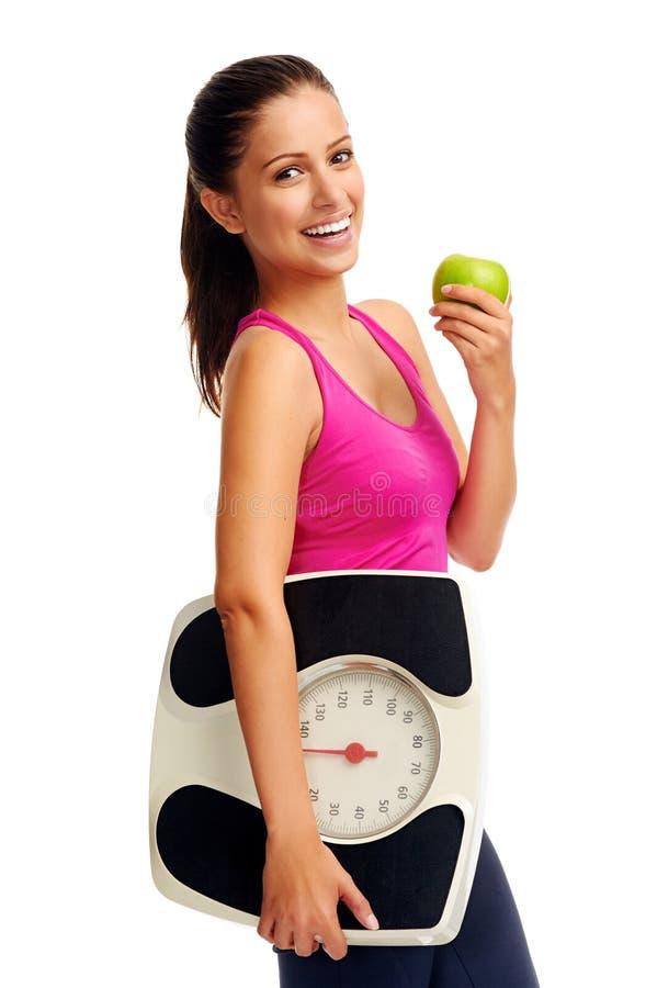 Weightlossvrouw royalty-vrije stock fotografie