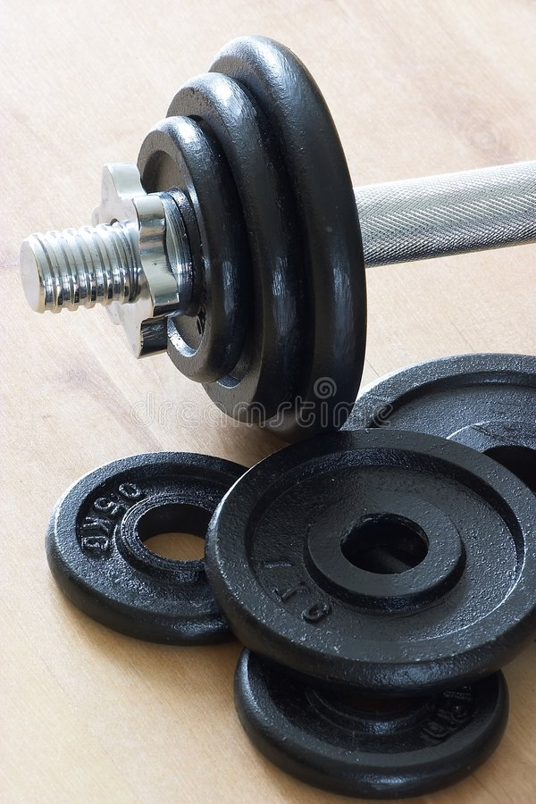 Weights & dumbell part stock image