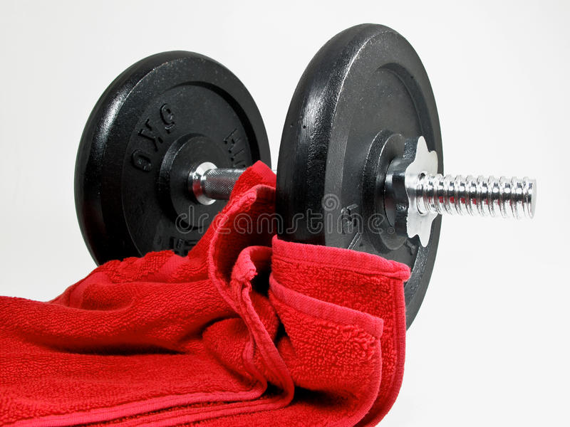Weights gym stock photography