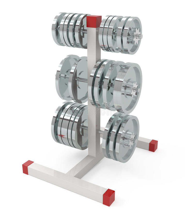 Weights isolated on white stock illustration