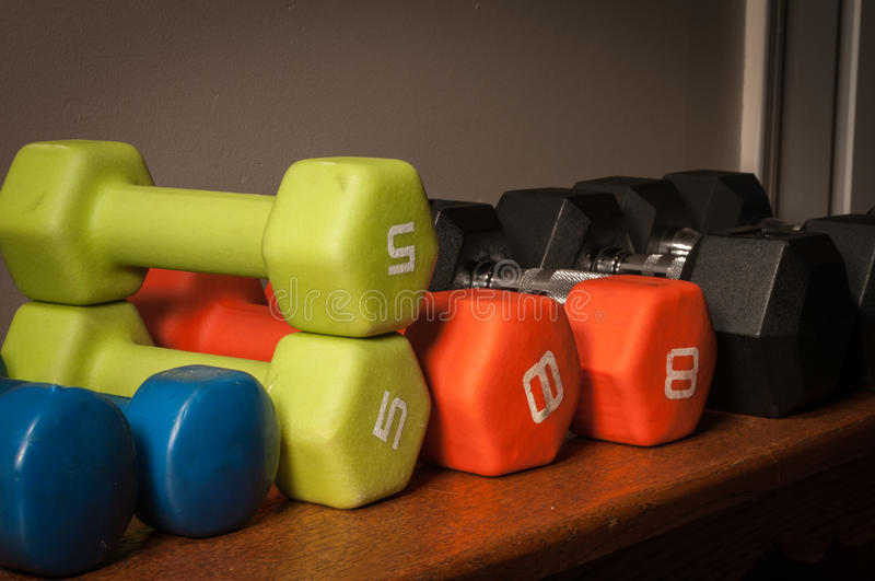 Weights Ready to Work Out royalty free stock photos
