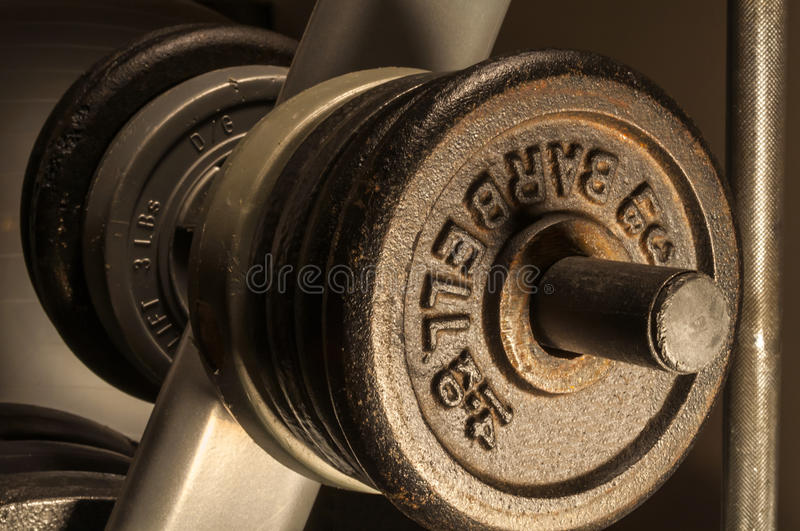 Weights Ready to Work Out royalty free stock photo