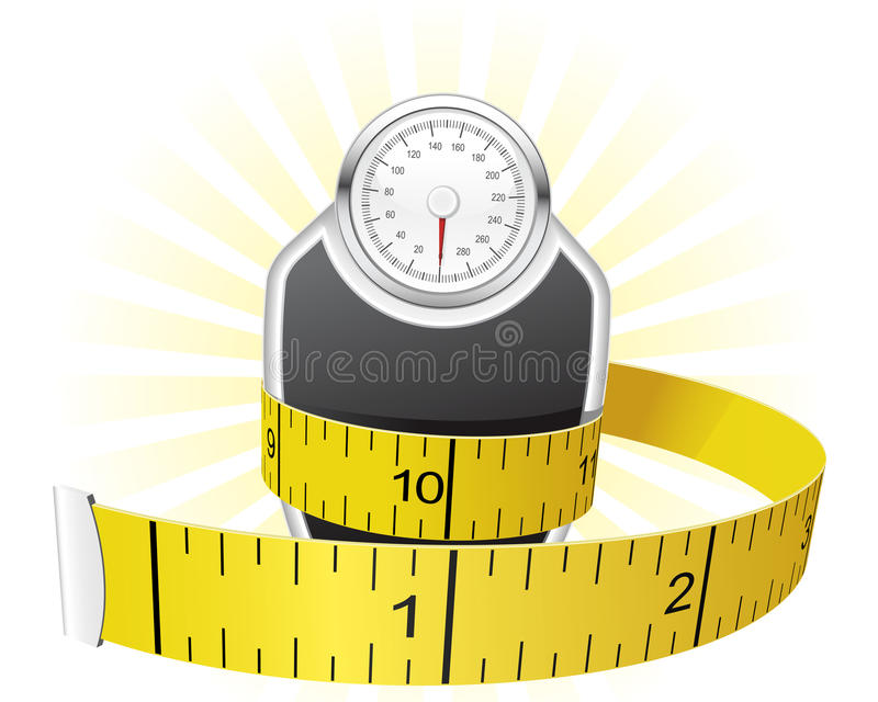 Download Weights and tape measure stock vector. Image of inch - 20905344