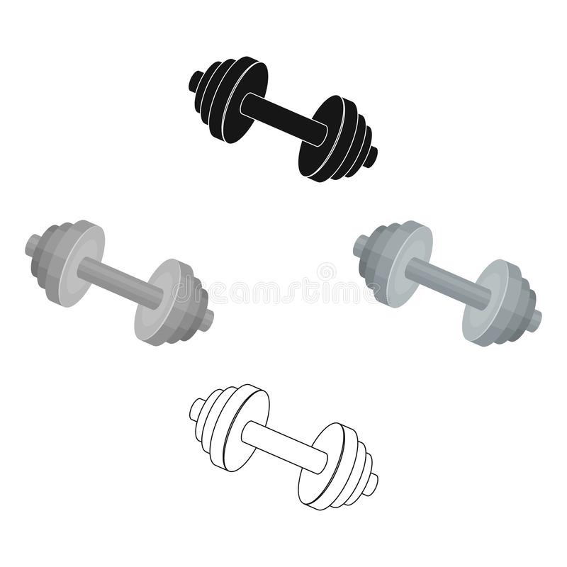 Weights for training. Metal training tools.Gym And Workout single icon in cartoon style vector symbol stock illustration royalty free illustration