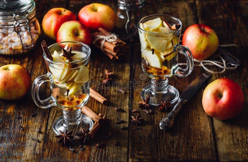 Weihnachten Apple trinken stockfoto