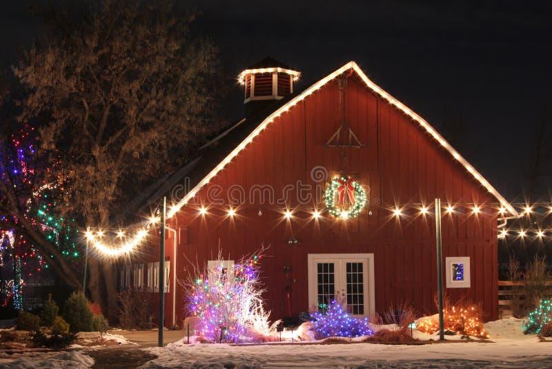 Weihnachten auf dem Bauernhof stockfotografie