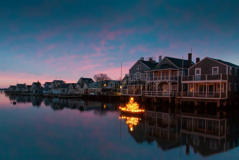 Weihnachten auf Nantucket lizenzfreie stockfotografie