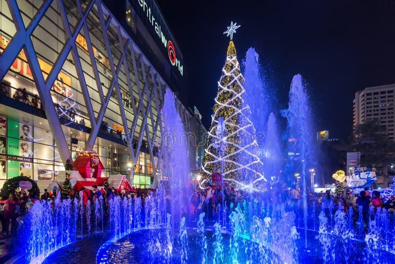 Weihnachten in Bangkok stockfoto