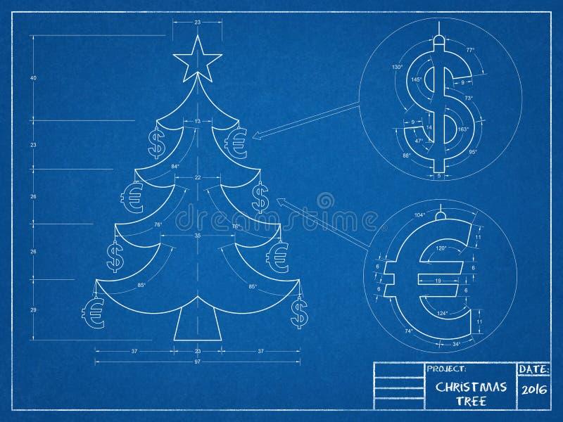 Weihnachten - Baum-Plan stockfotos