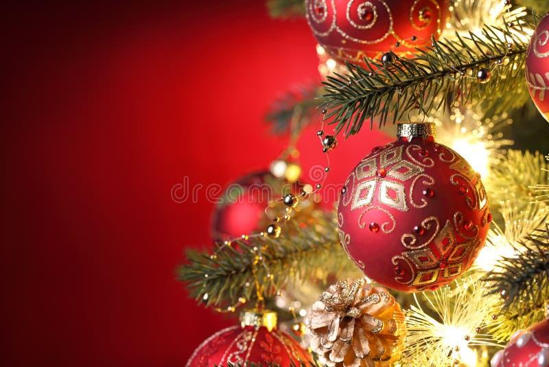 Weihnachten-Baumdekorationen lizenzfreie stockfotografie