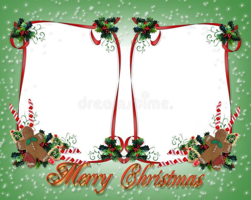 Weihnachten Behandelt Rand-Doppeltes Stock Abbildung - Illustration ...