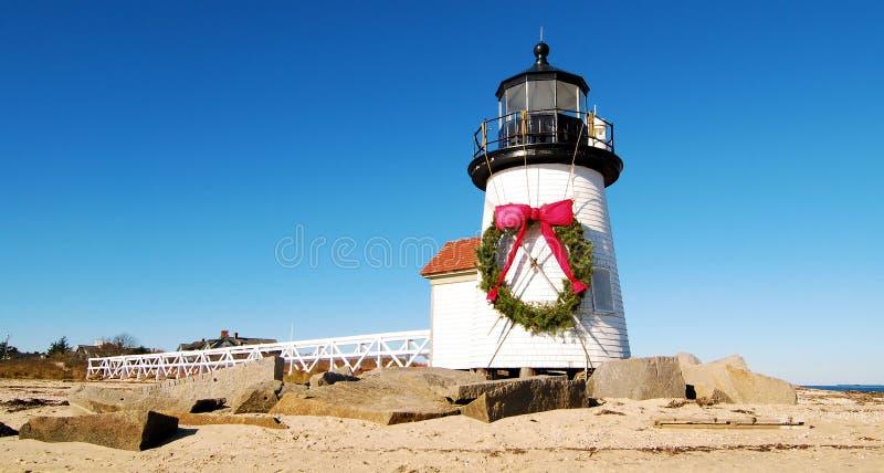 Weihnachten bei Nantucket stockfotos