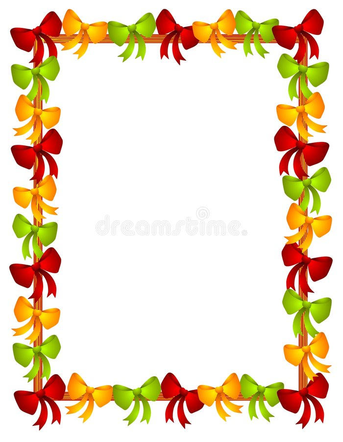 Weihnachten beugt Farbband-Feld vektor abbildung