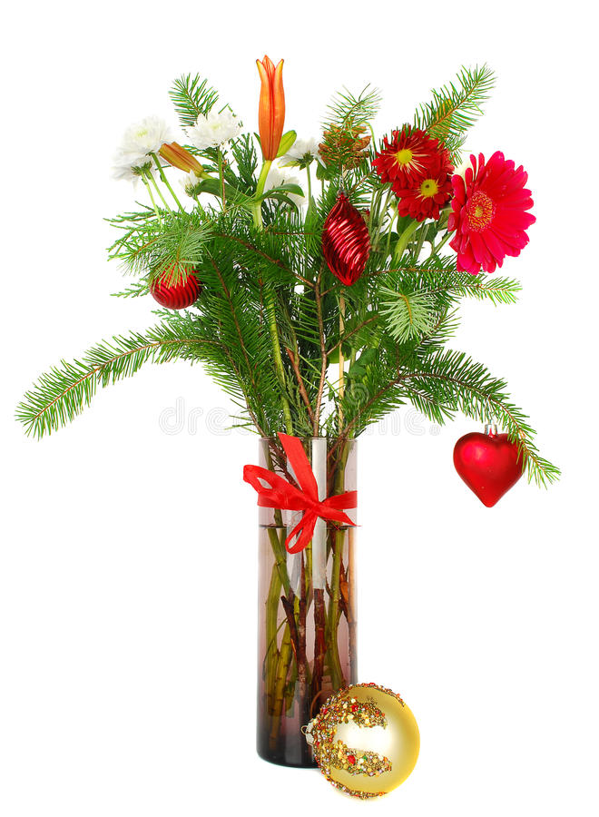 Weihnachten blüht Blumenstrauß lizenzfreie stockfotografie