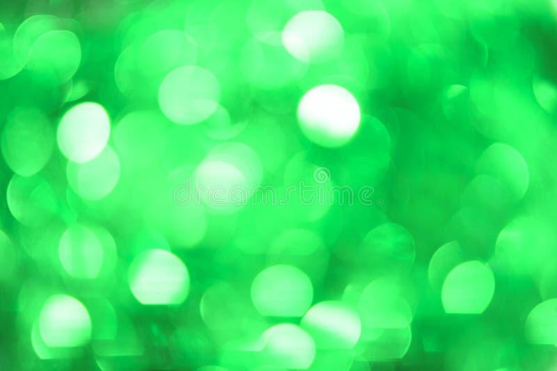Weihnachten-Bokeh-Hintergrund: Tadelloses Grün Auf lagerbild lizenzfreies stockfoto