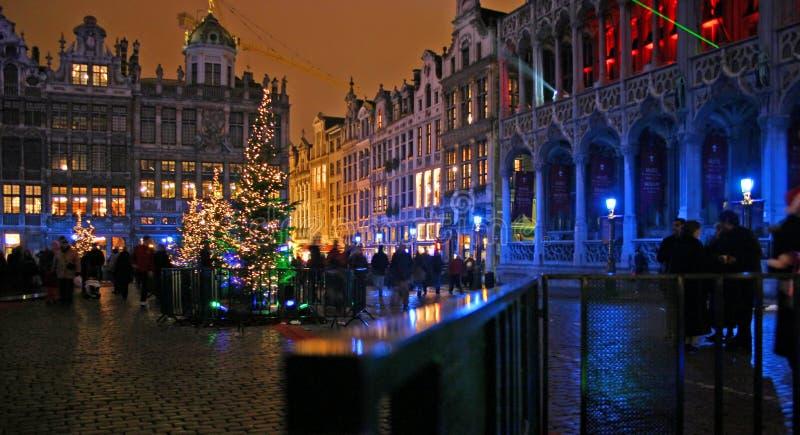 Weihnachten in Brüssel stockbilder