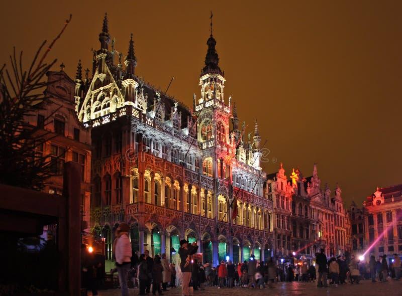 Weihnachten in Brüssel stockfotos