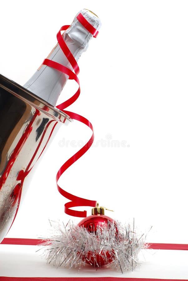 Weihnachten Champagne stockbilder