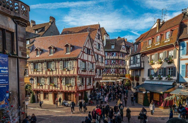 Weihnachten in Colmar lizenzfreies stockfoto