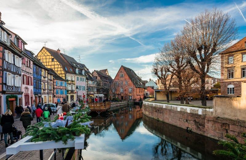 Weihnachten in Colmar lizenzfreie stockfotos