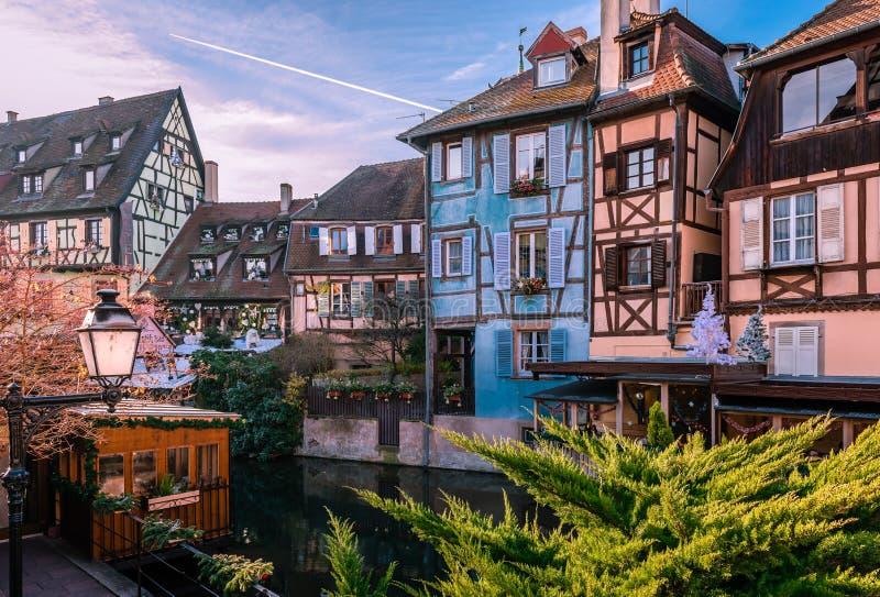 Weihnachten in Colmar lizenzfreie stockfotografie
