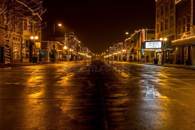 Weihnachten in der Stadt stockbilder