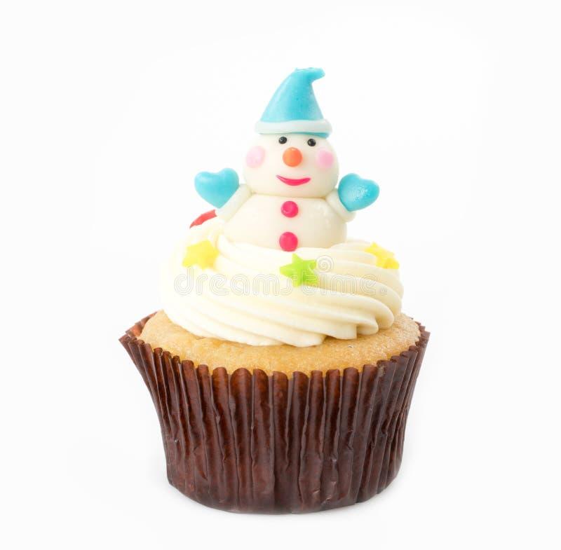 Weihnachten des kleinen Kuchens auf dem Weiß stockfoto