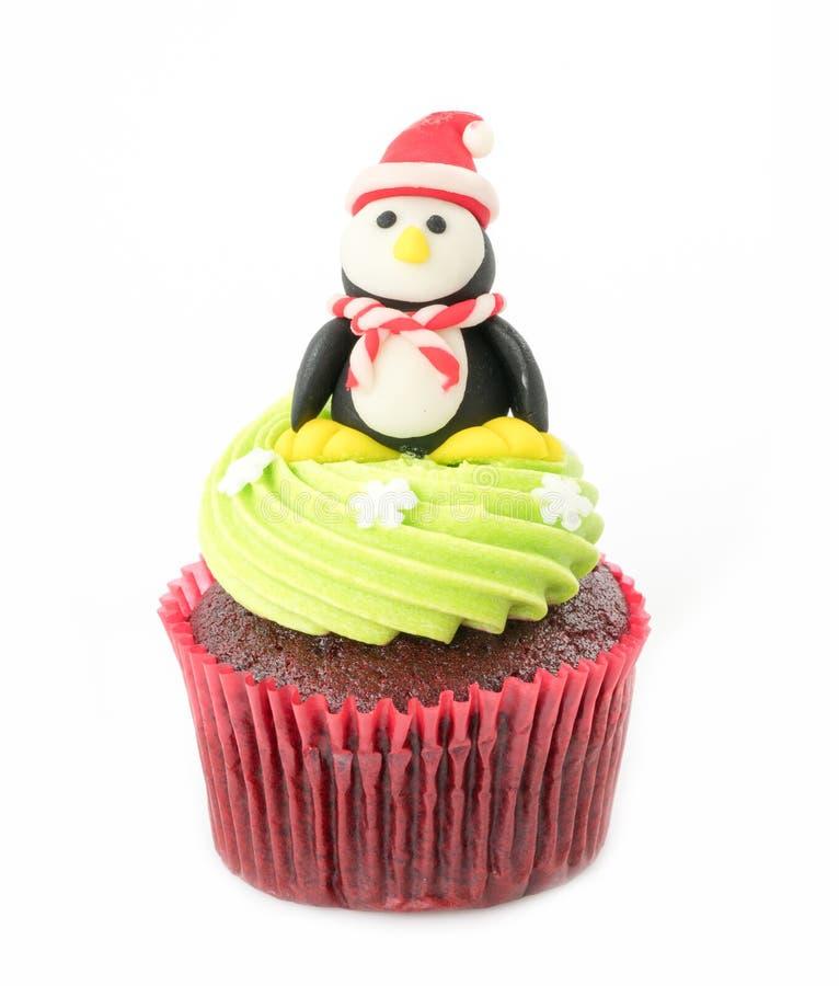 Weihnachten des kleinen Kuchens auf dem Weiß stockbilder