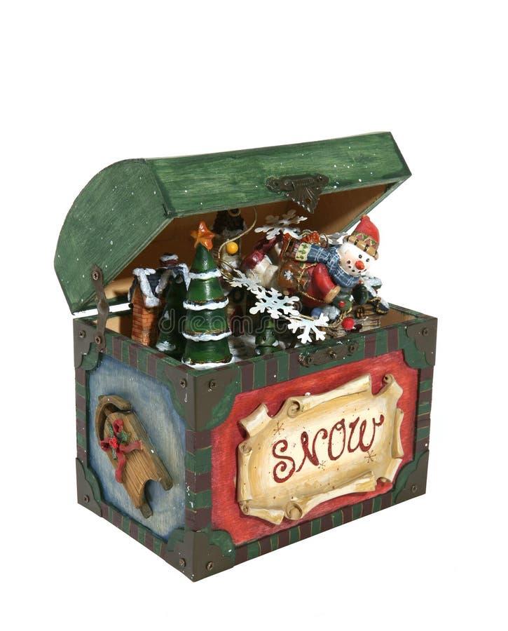 Weihnachten in einem Kasten lizenzfreies stockfoto