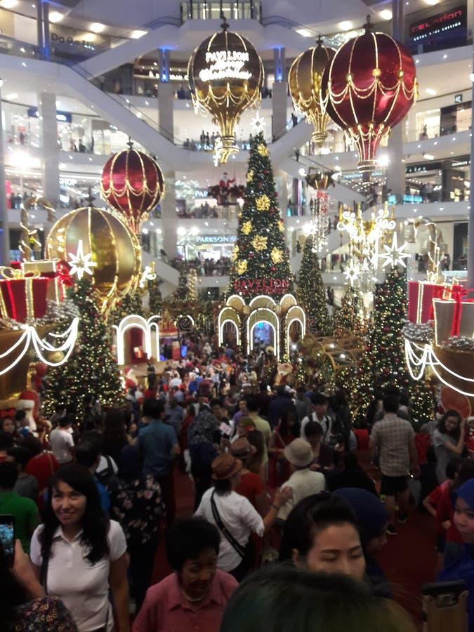 Weihnachten feiern Kuala Lumpur stockfotos