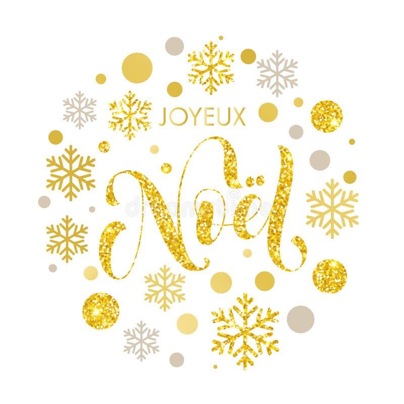 Weihnachten in Franzosen Noel-Text für Grußkarte vektor abbildung