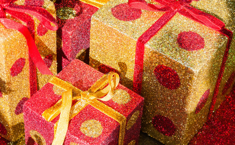Weihnachten-giftboxes stockfotografie