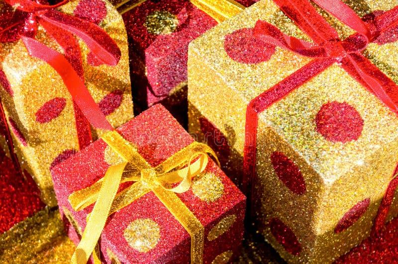 Weihnachten-giftboxes lizenzfreie stockfotos