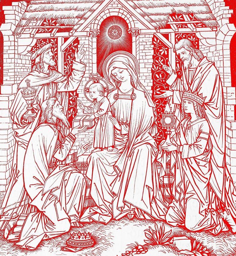 Weihnachten im Rot vektor abbildung
