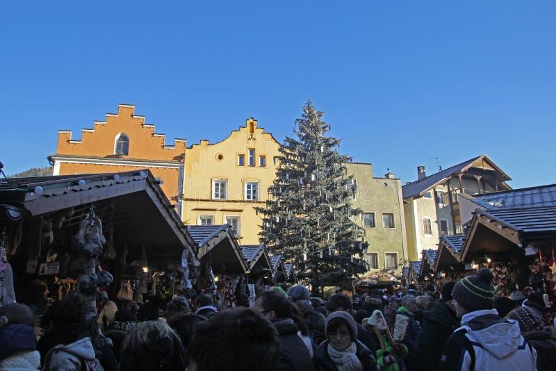 Weihnachten im vipiteno stockfotografie
