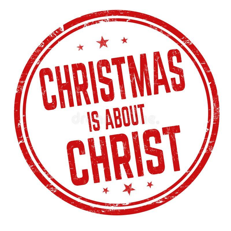 Weihnachten ist über Christus-Zeichen oder -stempel vektor abbildung
