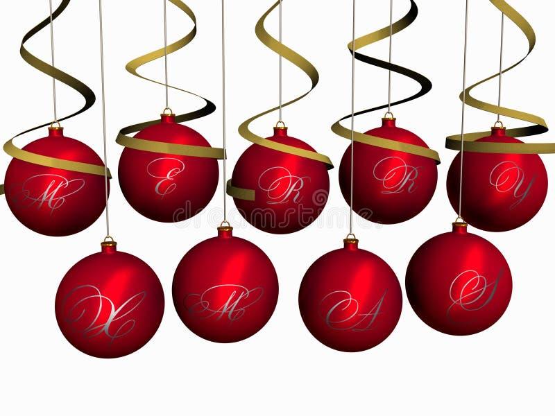 weihnachten kugeln frohe weihnachten stock abbildung. Black Bedroom Furniture Sets. Home Design Ideas
