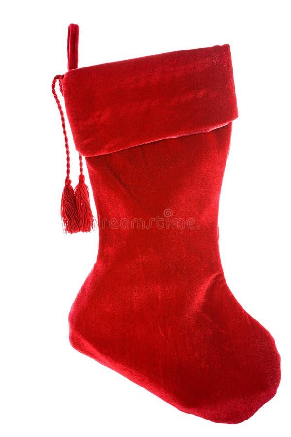 Weihnachten: Leerer Weihnachtsstrumpf lizenzfreies stockfoto