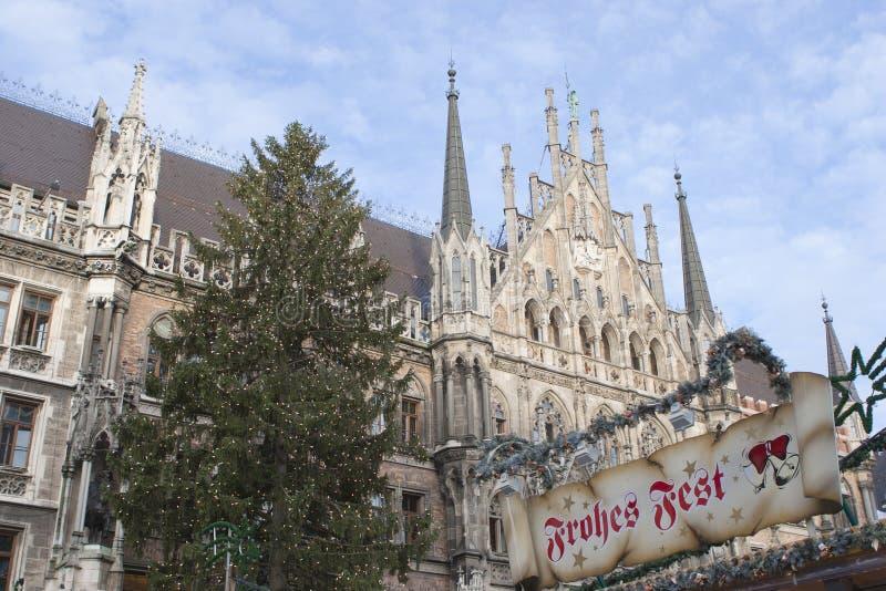 Weihnachten in München stockfotografie