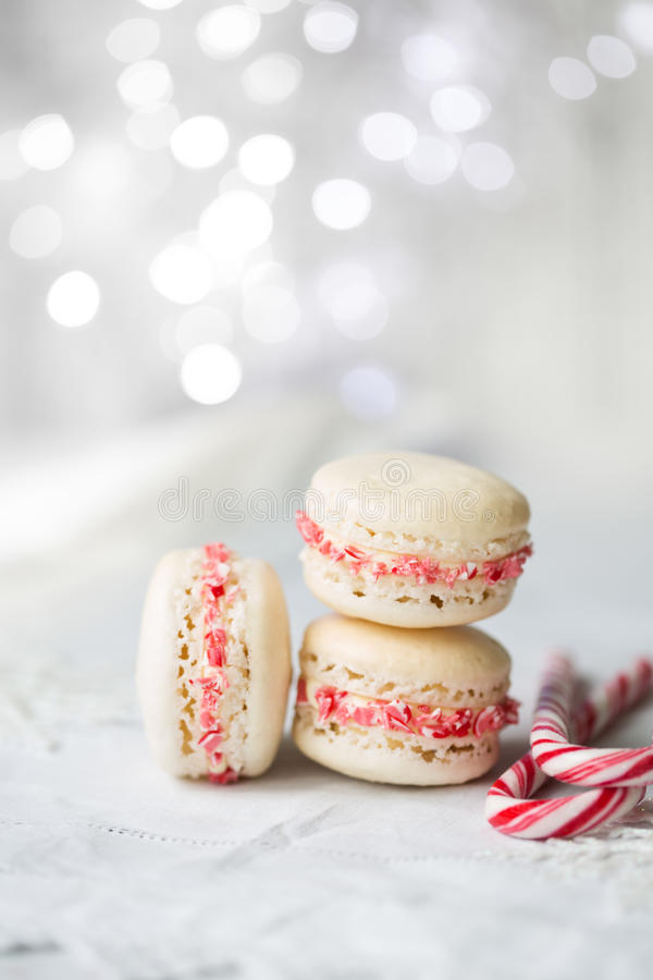 Weihnachten-macarons stockfoto