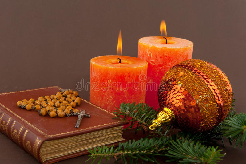 Weihnachten mit Bibel stockfoto