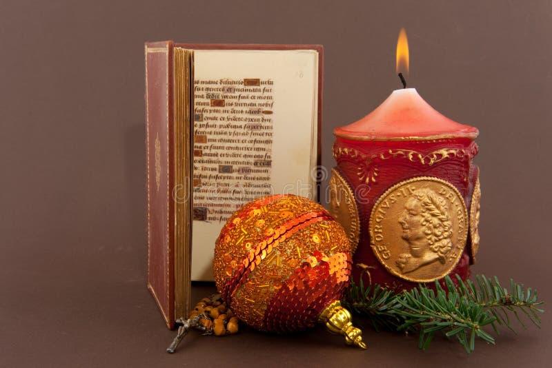 Weihnachten mit Bibel lizenzfreies stockbild