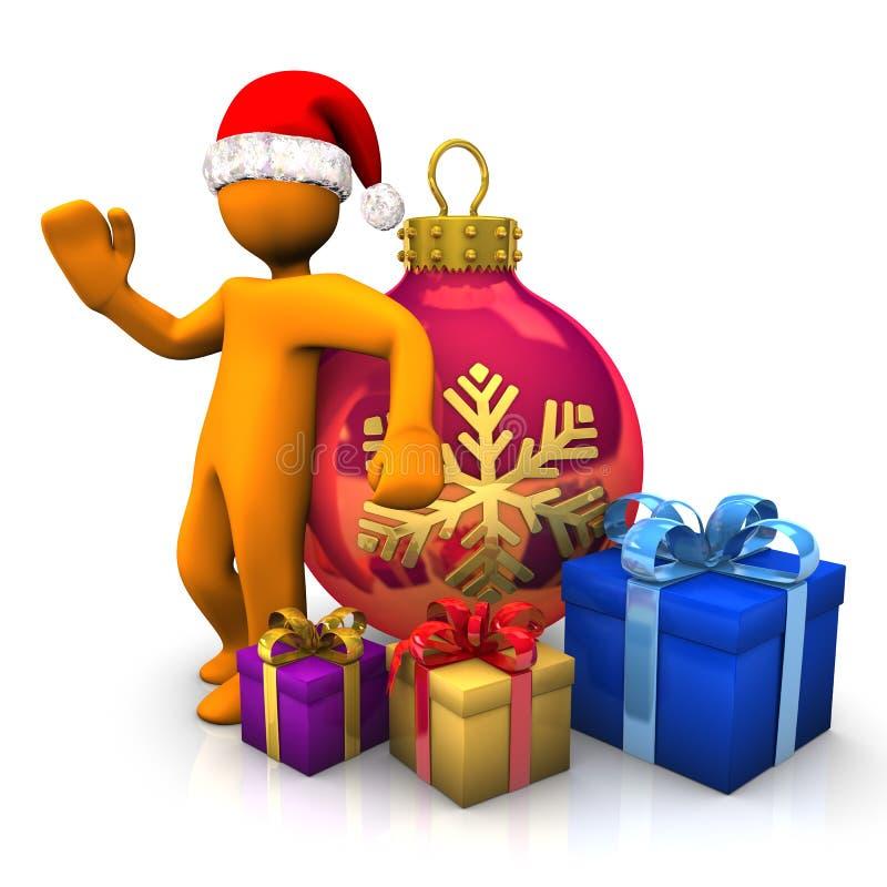 Weihnachten mit Sant Klausel vektor abbildung