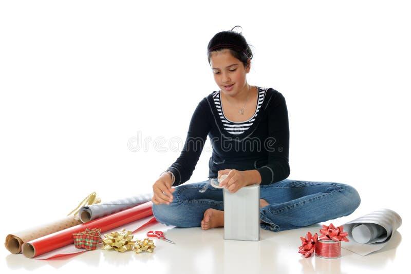 Weihnachten oben einwickeln lizenzfreies stockfoto